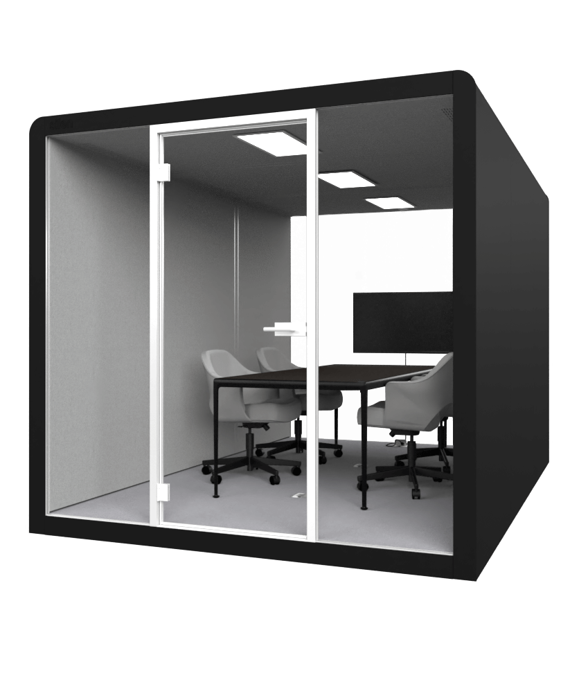 SPACE 6_BLACK VIDEO CONFERENCING OFFICE POD