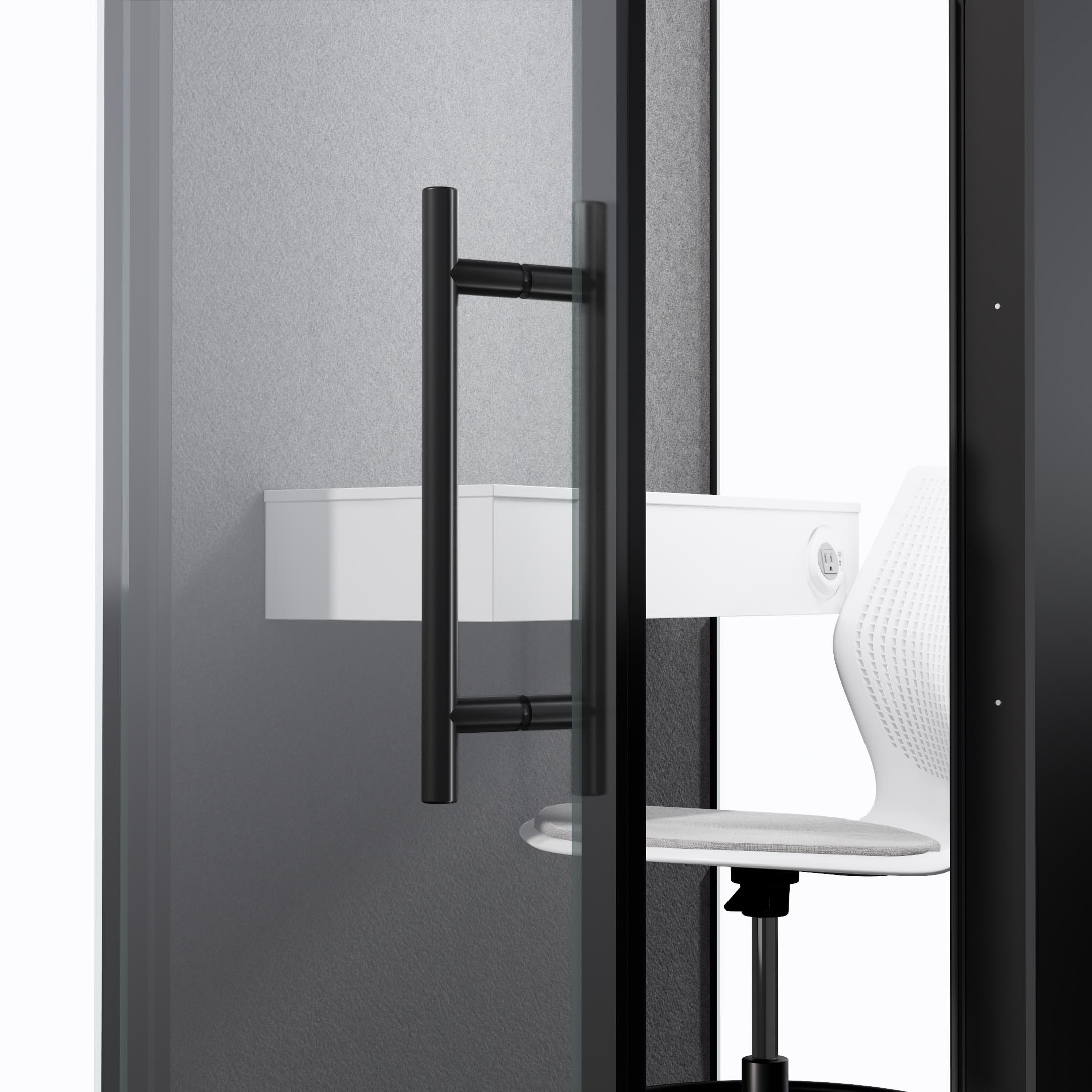CHATBOX SINGLE-DOOR HANDLE AND TABLE