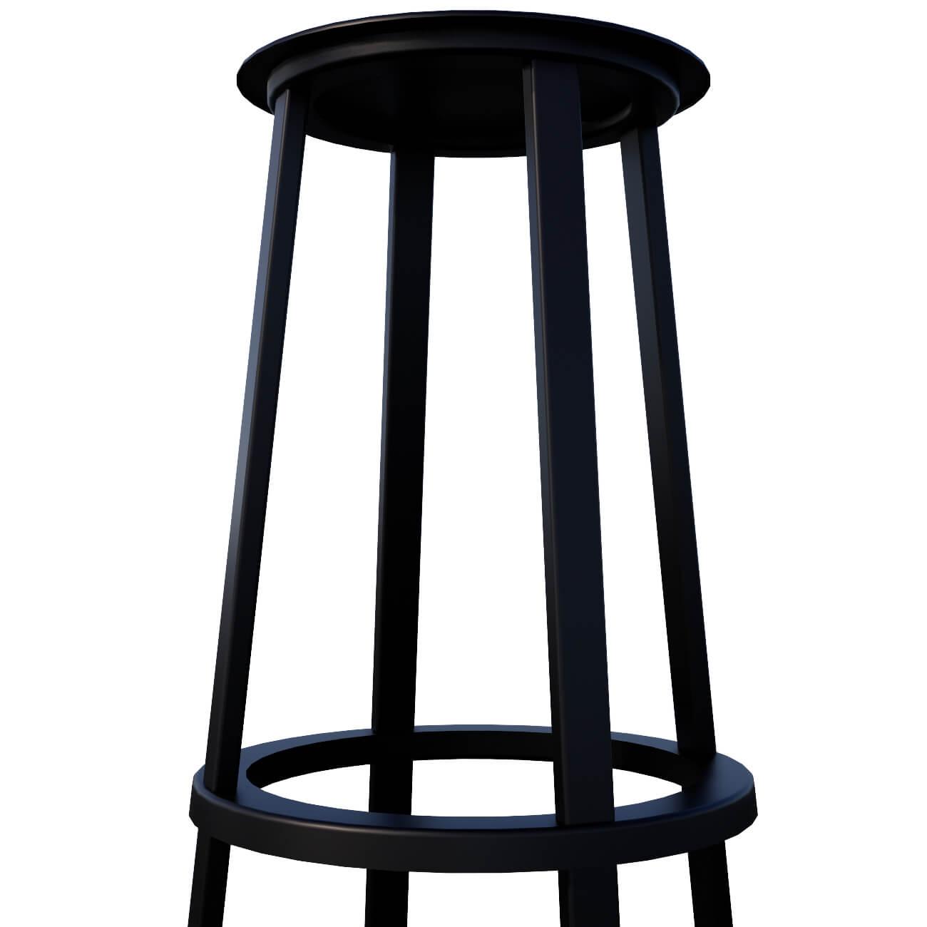 BLACK STOOL - SEAT