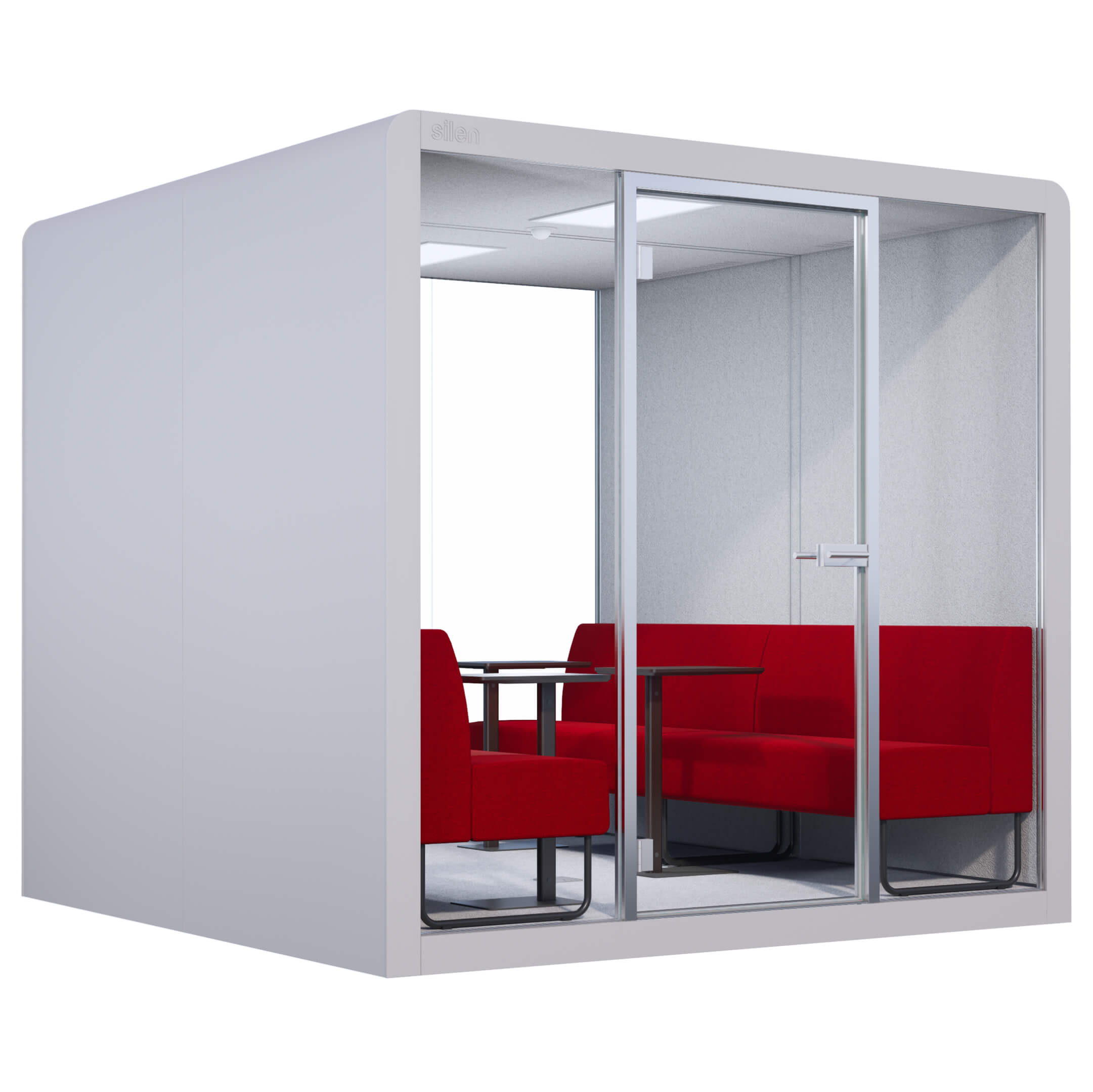 COTTON SPACE 4 - RED MELANGE BENCHES