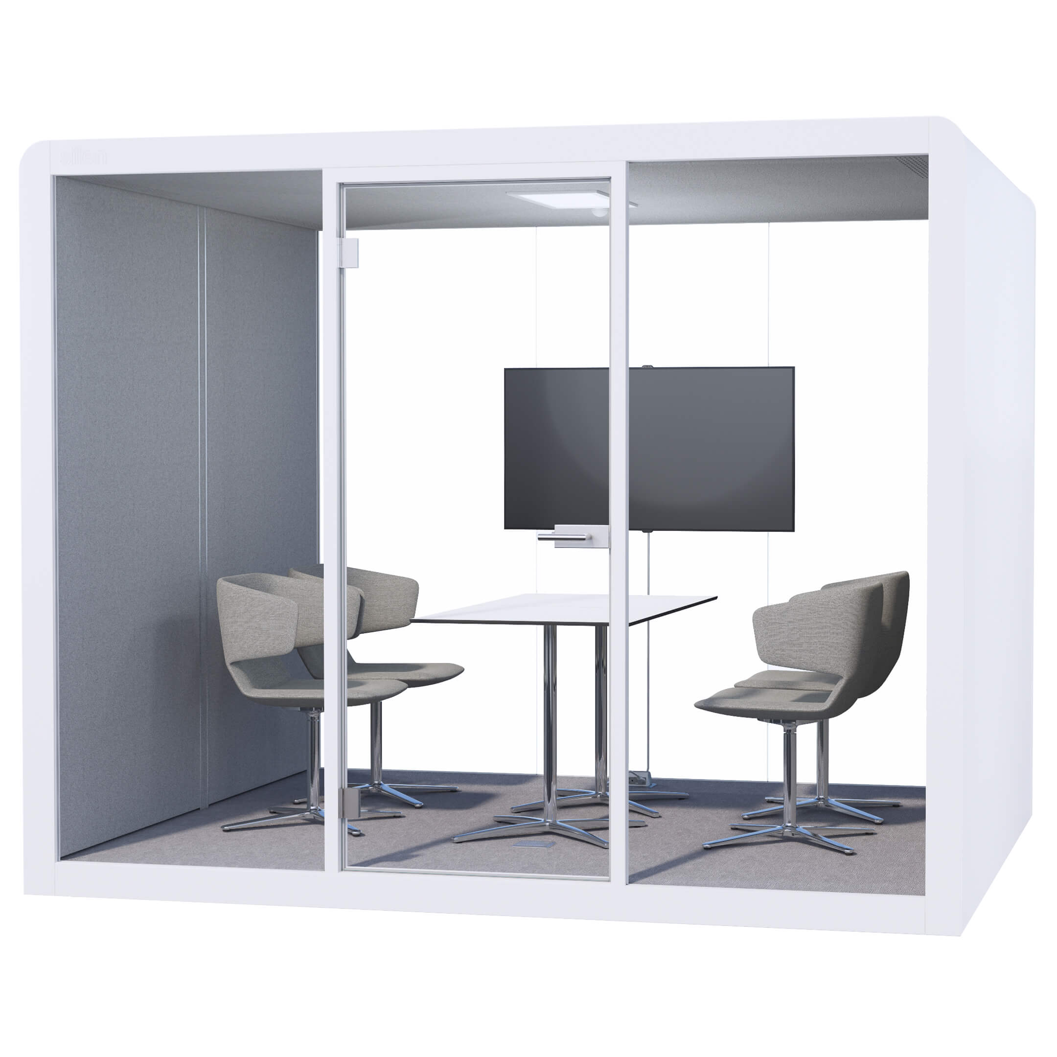 LIGHT GREY SPACE XL - VIDEO CONFERENCING SETUP