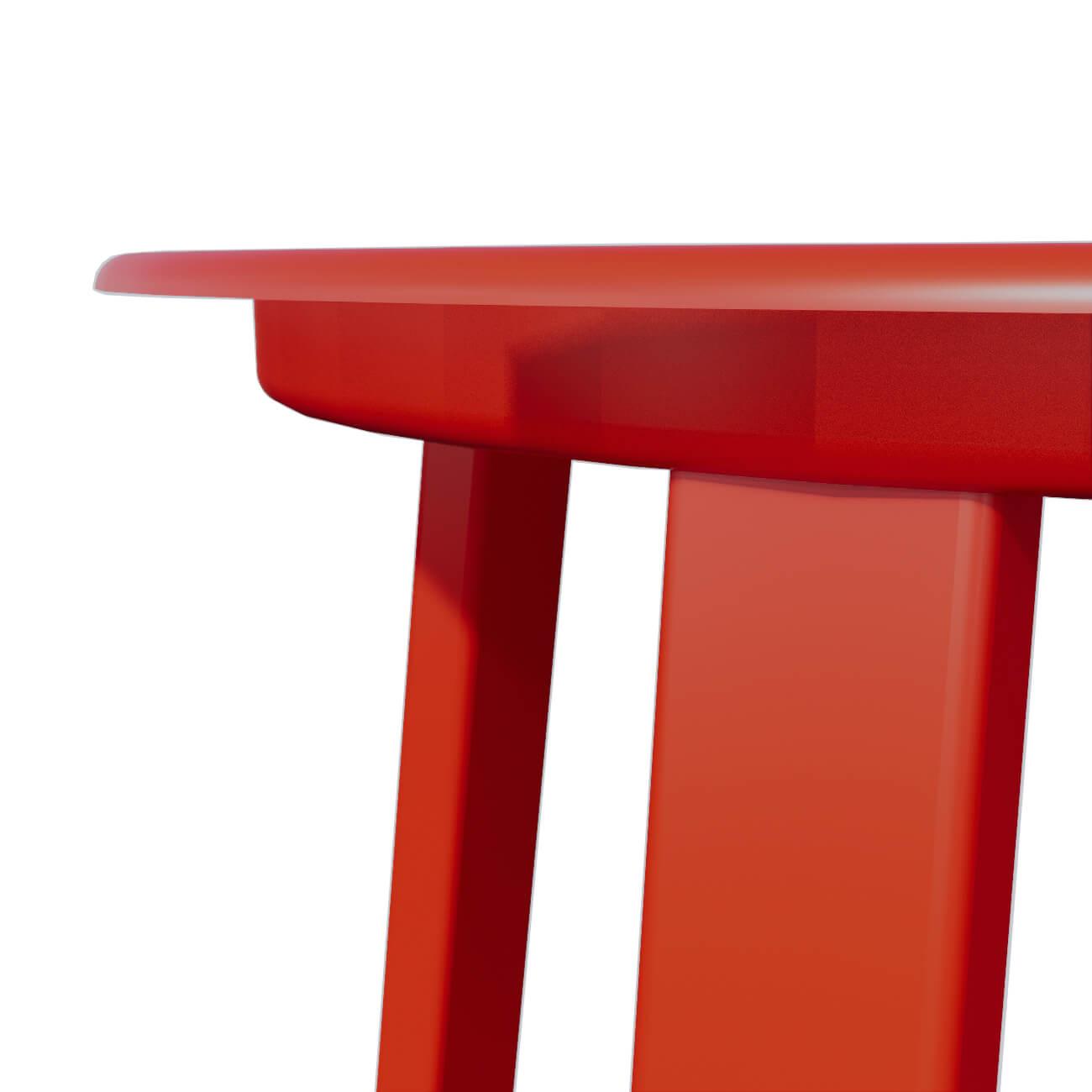 RED STOOL - DETAIL