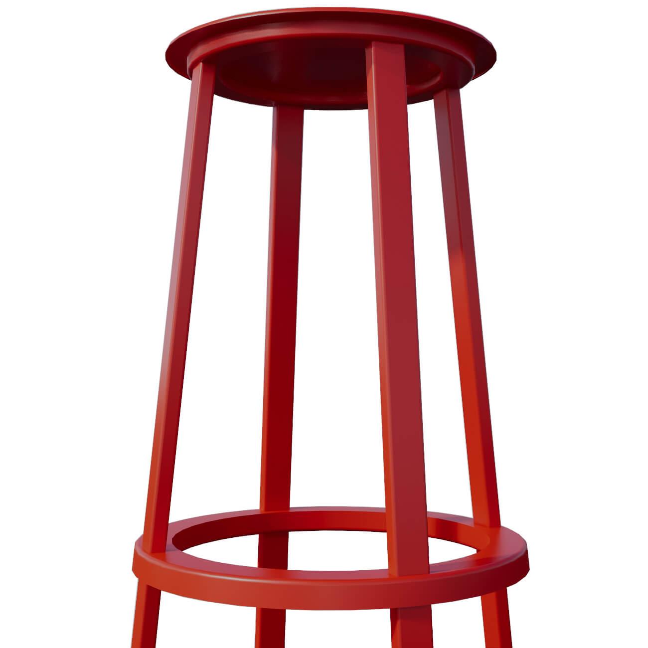 RED STOOL - SEAT