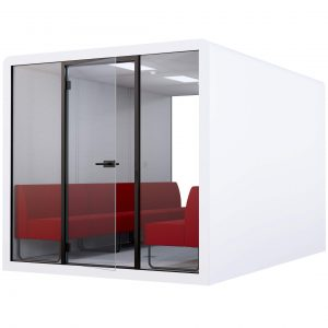 WHITE SPACE 6 - RED MELANGE BENCHES